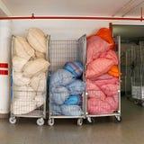 Carretti di lavanderia fotografie stock