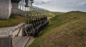 Carretti di tirata di golf fotografia stock libera da diritti