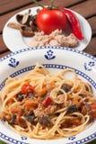 Carrettiera de los espaguetis Foto de archivo libre de regalías