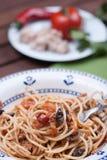 Carrettiera de spaghetti Photos libres de droits