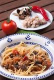 Carrettiera degli spaghetti Fotografie Stock