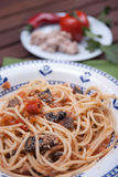 Carrettiera dos espaguetes fotografia de stock royalty free