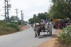 Carretto con un carico leggero in Tamil Nadu Fotografie Stock Libere da Diritti