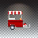 Carretto degli alimenti a rapida preparazione, negozio della via Immagini Stock