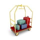 Carretto dei bagagli dell'hotel Immagine Stock Libera da Diritti