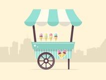 Carretto del gelato Fotografie Stock