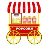 Carretto del popcorn (vettore) Fotografie Stock