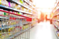 Carretto del supermercato Fotografia Stock