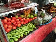 Carretto dell'insalata della papaia Fotografie Stock Libere da Diritti