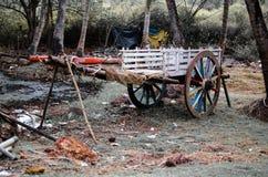 Carretto di Bullock parcheggiato Immagini Stock