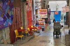 Carretto a mano consegnato prodotti, Gerusalemme Fotografia Stock Libera da Diritti