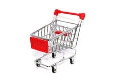 Carretto rosso del carrello fotografie stock