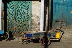 Carretto variopinto al mercato, Kargil, Ladakh, India Fotografia Stock Libera da Diritti