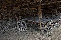 Carretto vuoto di legno Immagine Stock