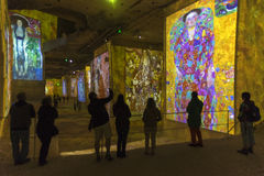 Carrieres de Lumieres Klimt Gold Stock Photos