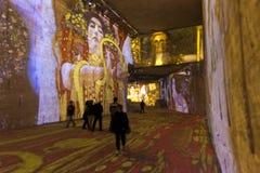 Carrières de Lumières Klimt στοκ φωτογραφία με δικαίωμα ελεύθερης χρήσης