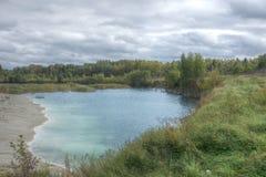 Carrière abandonnée dans Rummu, Estonie Image libre de droits