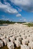 Carrière avec des roches de dolomite Images stock