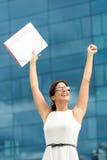 Carrière d'affaires et conclusion du succès du travail Photo stock