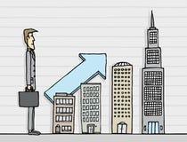 Carrière d'affaires/homme d'affaires grandissant illustration libre de droits