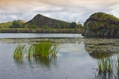 Carrière de Cawfield sur Roman Wall, le Northumberland l'angleterre photo libre de droits