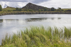 Carrière de Cawfield sur Roman Wall, le Northumberland l'angleterre images stock