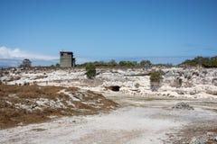 Carrière de chaux d'île de Robben Images libres de droits