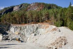 Carrière de extraction d'agrégat de construction en Norvège Scandinavie photographie stock