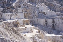 Carrière de marbre blanche Photographie stock libre de droits