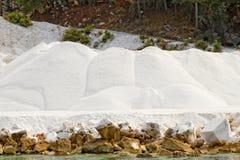 Carrière de marbre blanche de Thassos Photo libre de droits