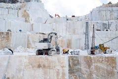 Carrière de marbre de Carraran Photographie stock libre de droits