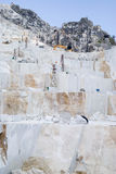 Carrière de marbre de Carraran Photographie stock