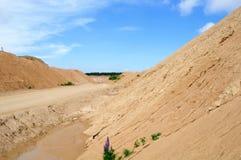 Carrière de sable Photographie stock libre de droits
