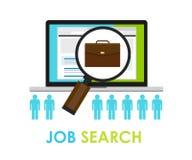 Carrière en ligne d'emploi de Web de boucle de sac de recherche d'emploi Image stock
