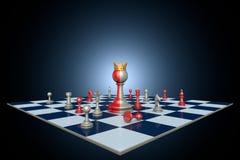 Carrière politique réussie (métaphore d'échecs) Image stock