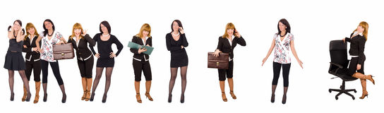 Carrière van bediende aan werkgever stock afbeeldingen