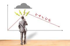 Carrière, waarde, diagram, beurs Royalty-vrije Stock Afbeeldingen