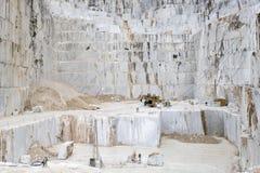 Carrières de marbre de Carrare Photo libre de droits