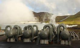 Carri armati ad alta pressione per la centrale elettrica di energia termica Fotografia Stock