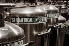 Carri armati di ossigeno immagine stock
