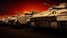 Carri armati militari, ciclo senza cuciture royalty illustrazione gratis