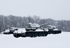 Carri armati russi Fotografia Stock