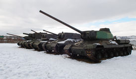 Carri armati russi durante la seconda guerra mondiale Fotografia Stock Libera da Diritti