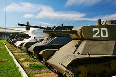 Carri armati sovietici della seconda guerra mondiale Fotografia Stock
