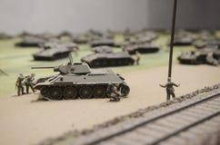 Carri armati sovietici durante il funzionamento Prokhorovka, 1943 Fotografia Stock Libera da Diritti
