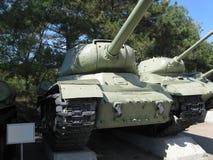 Carri armati sovietici T-34-85 nel museo Immagini Stock Libere da Diritti