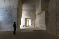 Carrieres de Lumieres Limestone quarry Stock Photography