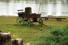 Carriage. Old wooden carriage in some counrtyside Royalty Free Stock Photo