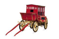 Carriage. Red carriage isolated white background royalty free stock photo