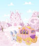 回到王国的Carriage公主 免版税库存照片